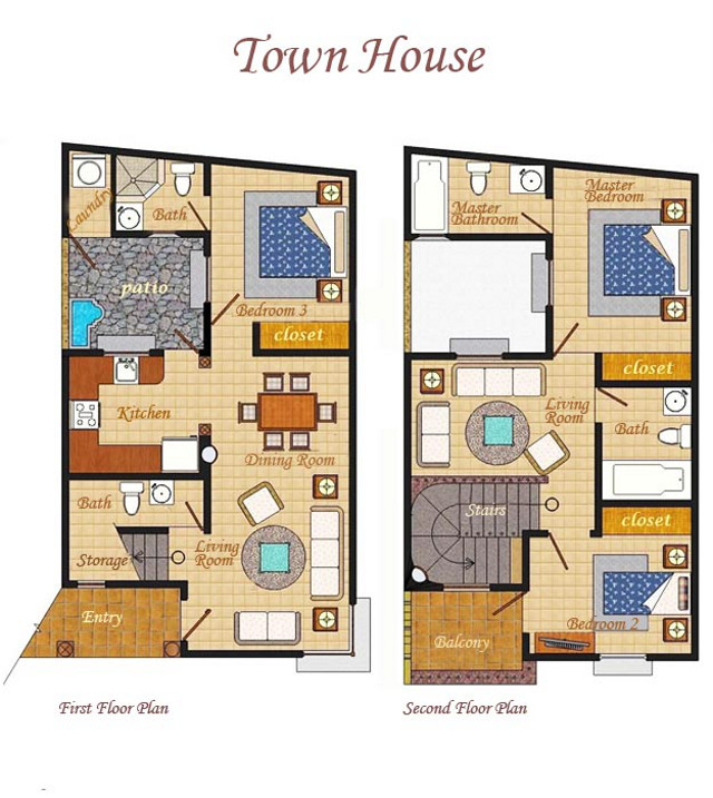 Town House floor plan